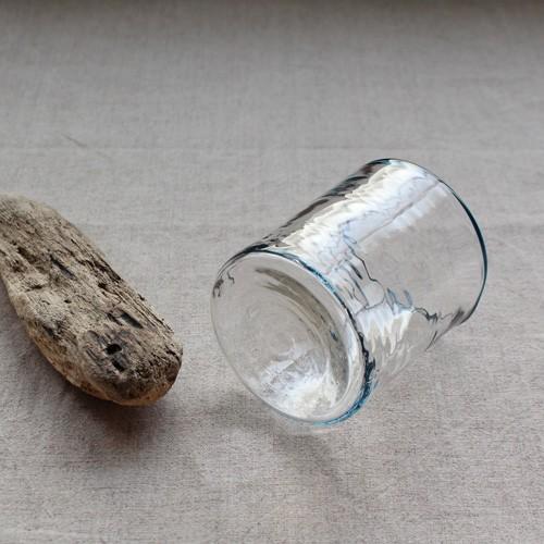 円筒型グラス コップ 色フチ 吹きガラス tonari ガラス食器 口巻きグラス|cayest|05