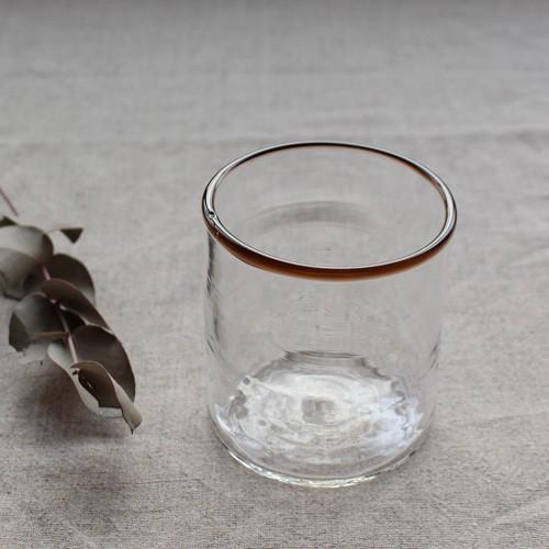 円筒型グラス コップ 色フチ 吹きガラス tonari ガラス食器 口巻きグラス|cayest|08