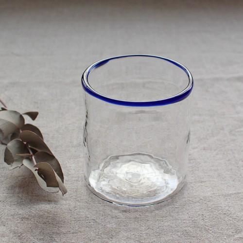 円筒型グラス コップ 色フチ 吹きガラス tonari ガラス食器 口巻きグラス|cayest|10