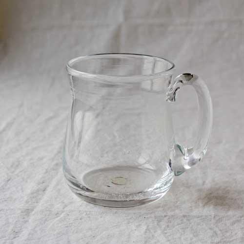 ビアジョッキ ビアグラス 吹きガラス tonari ガラス食器 コップ 手作り|cayest