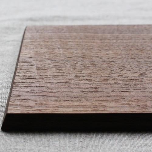 木製プレート スクエア オイル仕上げ 甲斐幸太郎 ウォルナット/ホワイトオーク コースタートレイ cayest 04