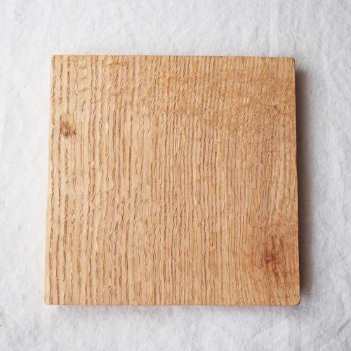 木製プレート スクエア オイル仕上げ 甲斐幸太郎 ウォルナット/ホワイトオーク コースタートレイ cayest 08
