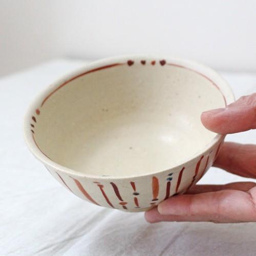 玉十草 ストライプ めし碗 お茶碗 11.5cm 廣川みのり 縞模様 キナリ 和食器 陶器|cayest|04