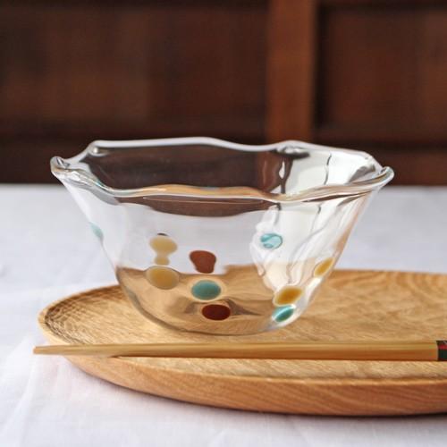 カラフルかき氷鉢 小鉢 12cm ガラスボウル tonari 吹きガラス 手作り kakigoori bowl cayest