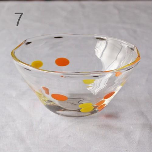 カラフルかき氷鉢 小鉢 12cm ガラスボウル tonari 吹きガラス 手作り kakigoori bowl cayest 14