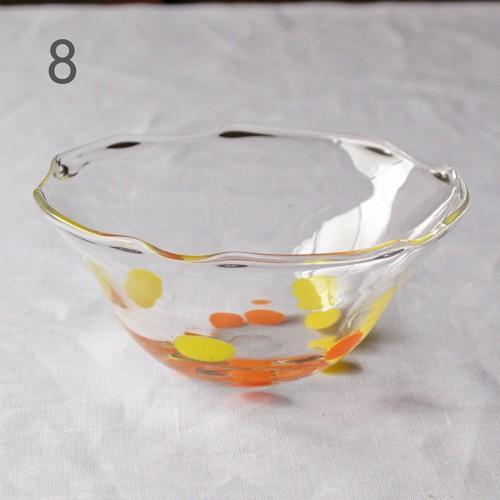 カラフルかき氷鉢 小鉢 12cm ガラスボウル tonari 吹きガラス 手作り kakigoori bowl cayest 15
