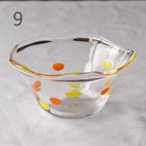 カラフルかき氷鉢 小鉢 12cm ガラスボウル tonari 吹きガラス 手作り kakigoori bowl cayest 16