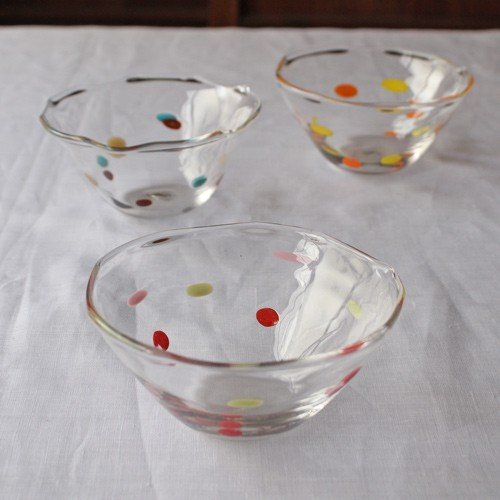 カラフルかき氷鉢 小鉢 12cm ガラスボウル tonari 吹きガラス 手作り kakigoori bowl cayest 03