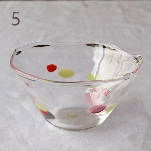 カラフルかき氷鉢 小鉢 12cm ガラスボウル tonari 吹きガラス 手作り kakigoori bowl cayest 12