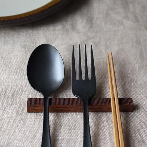 カトラリーレスト 木製 拭き漆 欅 箸置き 甲斐幸太郎 木工  和風 cayest 02