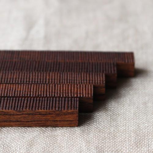 カトラリーレスト 木製 拭き漆 欅 箸置き 甲斐幸太郎 木工  和風 cayest 03