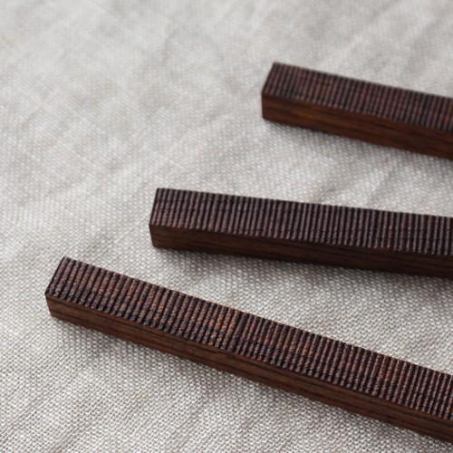 カトラリーレスト 木製 拭き漆 欅 箸置き 甲斐幸太郎 木工  和風 cayest 05