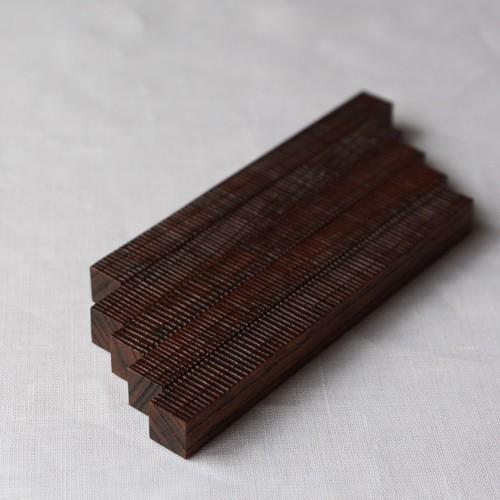 カトラリーレスト 木製 拭き漆 欅 箸置き 甲斐幸太郎 木工  和風 cayest 06