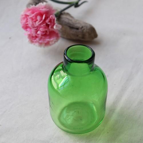花瓶 花器 midori フラスコ型 吹きガラス 一輪挿し 手作り tonari cayest