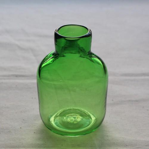 花瓶 花器 midori フラスコ型 吹きガラス 一輪挿し 手作り tonari cayest 02