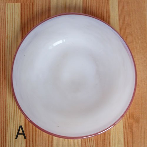 ガラス 白 小皿 ピンクフチ 15cm tonari 吹きガラス 手作り ガラス食器 かわいい ラブリー|cayest|07