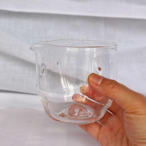 ガラス 透明 片口 冷酒 注器 260cc つぶつぶ ピッチャー 水差し tonari 吹きガラス 手作り かわいい|cayest|06