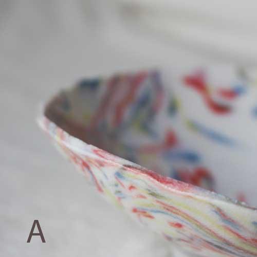 中鉢 小鉢 赤 ピンク マーブル 練りこみ 信楽焼 ボウル 手作り かわいい アート|cayest|04