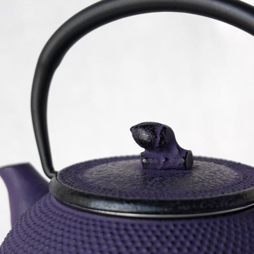 南部鉄器 急須 平丸アラレ0.3L 紫 小さめ かわいい おしゃれ 内側ホーロー加工 日本製|cayest|03