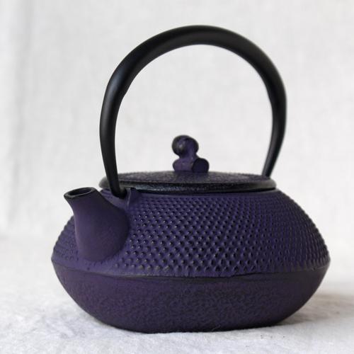 南部鉄器 急須 平丸アラレ0.3L 紫 小さめ かわいい おしゃれ 内側ホーロー加工 日本製|cayest|07