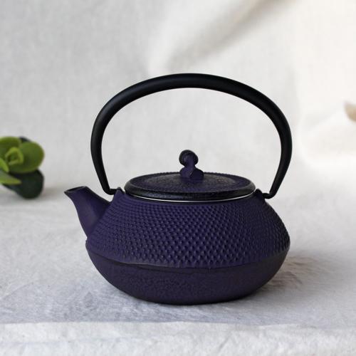 南部鉄器 急須 平丸アラレ0.3L 紫 小さめ かわいい おしゃれ 内側ホーロー加工 日本製|cayest|10