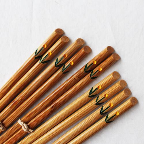 竹箸 チューリップ 23.5cm 大人用 赤/黄 かわいい お箸 国産孟宗竹 日本製|cayest|05