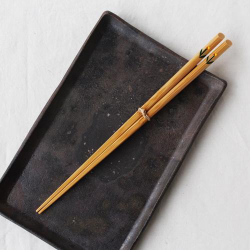 竹箸 チューリップ 23.5cm 大人用 赤/黄 かわいい お箸 国産孟宗竹 日本製|cayest|06