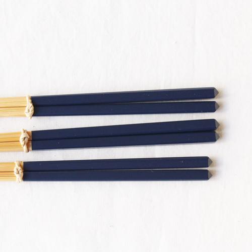竹箸 ダイヤカット 塗り分け箸 赤/ピンク/緑/紺/紫 22.5cm 細め お箸 国産孟宗竹|cayest|11