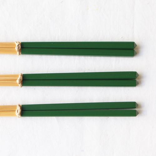 竹箸 ダイヤカット 塗り分け箸 赤/ピンク/緑/紺/紫 22.5cm 細め お箸 国産孟宗竹|cayest|10