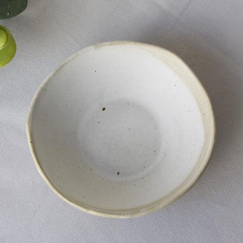 焼締 小皿 丸型 釉薬 利休白茶 塗り分け 丹波焼 醤油皿 豆皿 ほっこり 素朴 かわいい 和食器 cayest 08