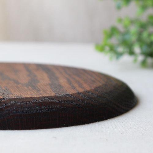 拭漆 丸皿 18cm レッドオーク 甲斐幸太郎 木製食器 漆器 6寸 ノミ目|cayest|06