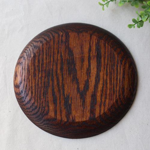 拭漆 丸皿 18cm レッドオーク 甲斐幸太郎 木製食器 漆器 6寸 ノミ目|cayest|07