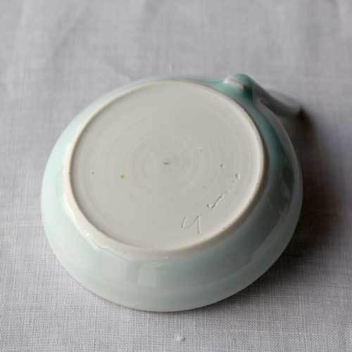 小皿 豆皿 青磁 1点のみ ギョーザのタレ皿 丸皿 かわいい 涼やか 水色 cayest 04