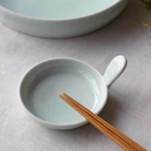 小皿 豆皿 青磁 1点のみ ギョーザのタレ皿 丸皿 かわいい 涼やか 水色 cayest 06