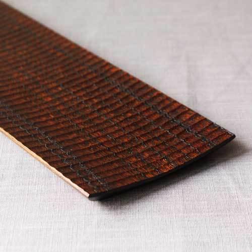 漆器 拭漆長皿 鎬 シノギ 欅 30cm 甲斐幸太郎 木製食器 伝統工芸 1点のみ|cayest|02