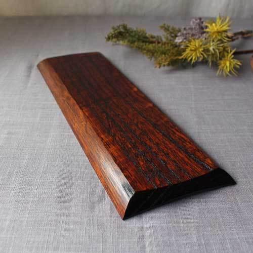 漆器 拭漆長皿 鎬 シノギ 欅 30cm 甲斐幸太郎 木製食器 伝統工芸 1点のみ|cayest|07