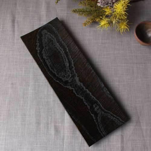 漆器 黒拭漆長皿 鉋目 カンナ目 欅 30cm 甲斐幸太郎 木製食器 伝統工芸 1点のみ cayest