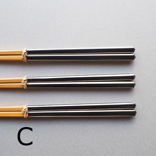 竹箸 ダイヤカット 研出箸 赤白/黒白 22.5cm 細め お箸 国産孟宗竹 おしゃれ|cayest|07