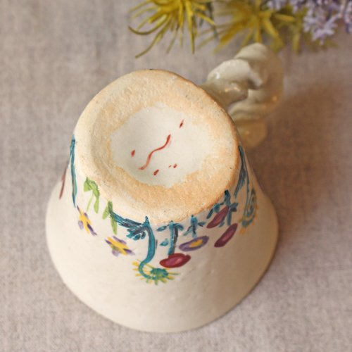 マグカップ 野花柄 ねじねじ取っ手 コーヒーカップ 180cc 廣川みのり 陶器 かわいい|cayest|08