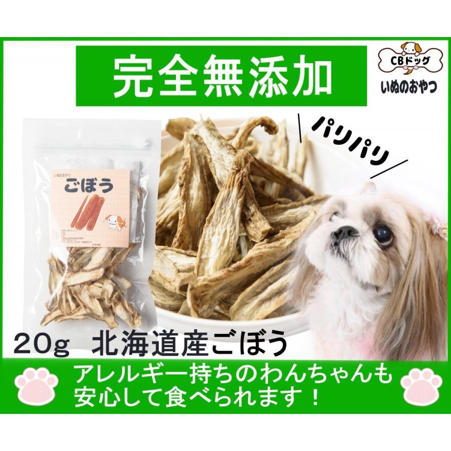 ごぼうチップス【犬のおやつ 無添加】【犬のおやつ 野菜】 完全無添加  ノンフライ・ノンオイル ノンシュガー  アレルギーのあるわんちゃんに 20g cbdog