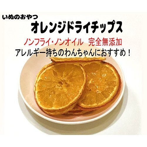 オレンジ チップス【犬のおやつ 無添加】【犬のおやつ 果物】 完全無添加 果物 ノンフライ・ノンオイル ノンシュガー アレルギーのあるわんちゃんに 20g|cbdog|02