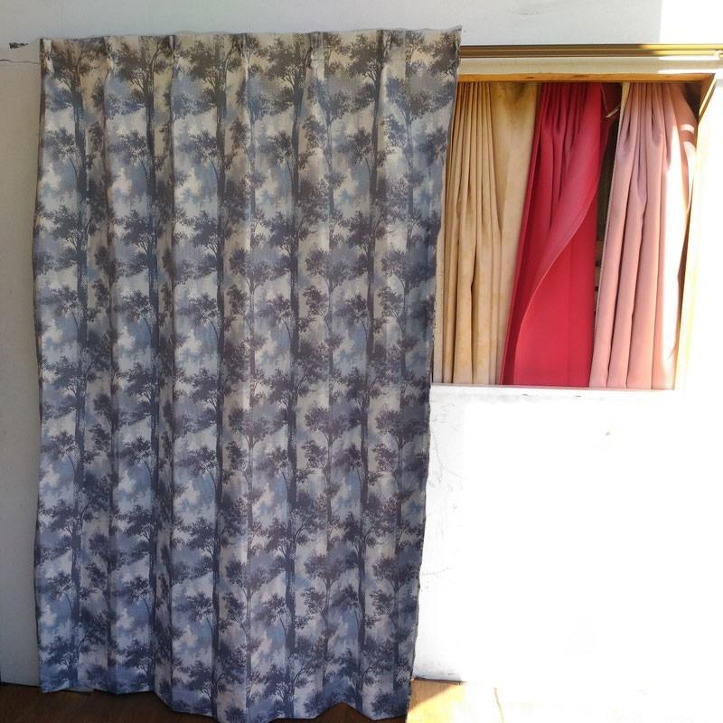 木立柄・アルペン 巾100cm×丈178cm 2枚組 日本製ジャガード織りカーテン ccnet 04