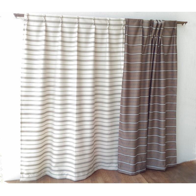 横段柄のジャガードカーテン 巾100cm×丈178cm 2枚組 既製品|ccnet|02