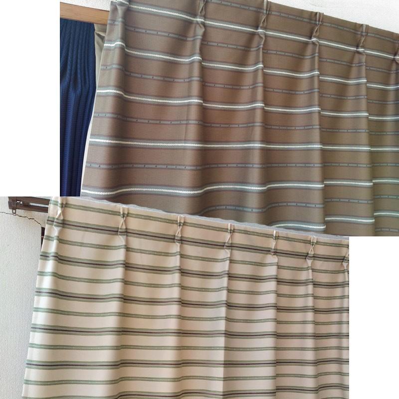 横段柄のジャガードカーテン 巾100cm×丈178cm 2枚組 既製品|ccnet|03