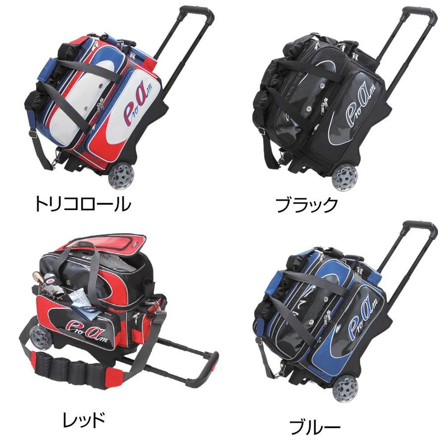 (代引不可)ABS ボウリングカートバッグ ボール2個用 B19-1700