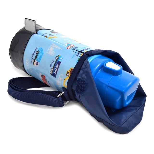 水筒カバー スモールタイプ アクセル全開はたらく車(ライトブルー) (ショルダー 子供 肩掛け 水筒ケース ボトルカバー 水筒ケース 水筒入れ)|ccstyle|03