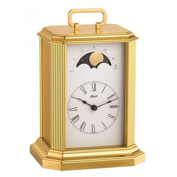 ブラスケースと白い文字盤がベストマッチ!ヘルムレ(HERMLE)機械式報時置き時計 23010-000130