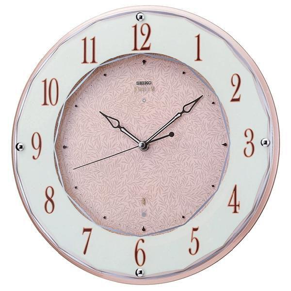 掛け時計 セイコーエンブレム 壁掛け時計 SEIKO電波時計 HS524A