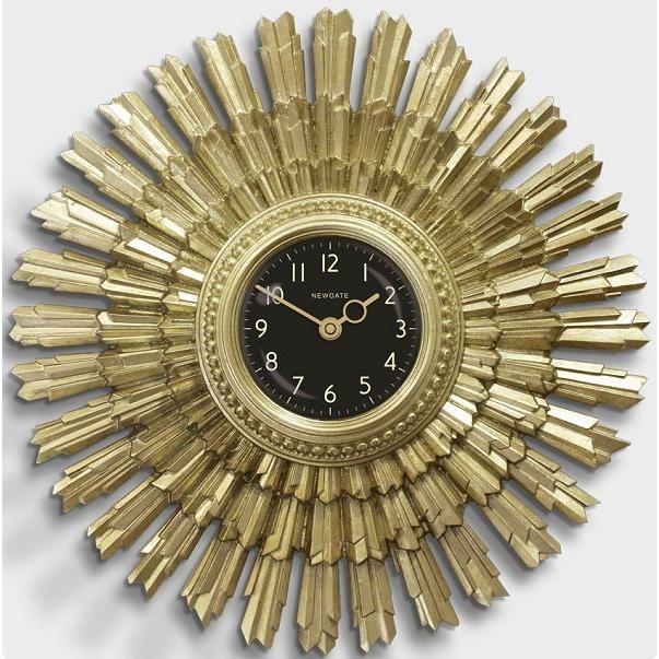掛け時計 THE SUNBLAZE ART DECO SUNBURST CLOCK NEW GATE(ニューゲート)SBLAZE253VS送料無料