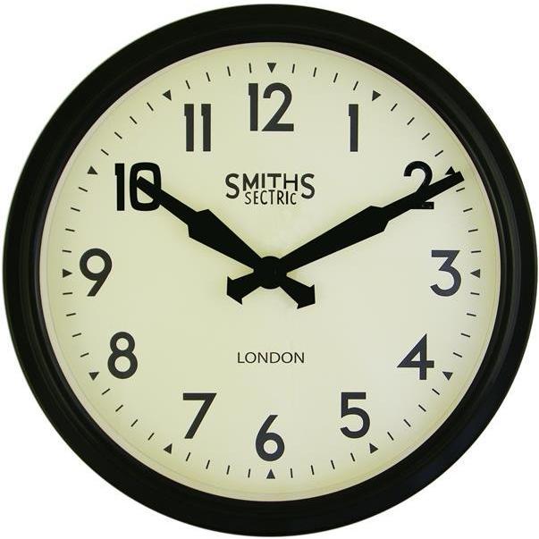 掛け時計 ロジャーラッセル RogerLascelles  Smiths Retro Clock 38cm SM-RETRO-黒 送料無料